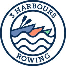 three harbours rowing logo